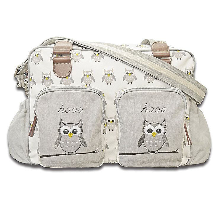 Cuddles Collection Me and Mummy Hoot Hoot Changing Bag (Grey)