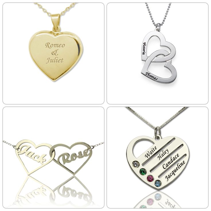 Heart name jewellery in our love collection