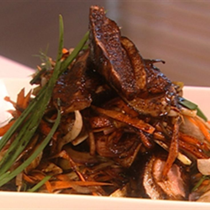 Try this Sticky Duck Salad recipe by Chef James Reeson. This recipe is from the show Alive and Cooking.