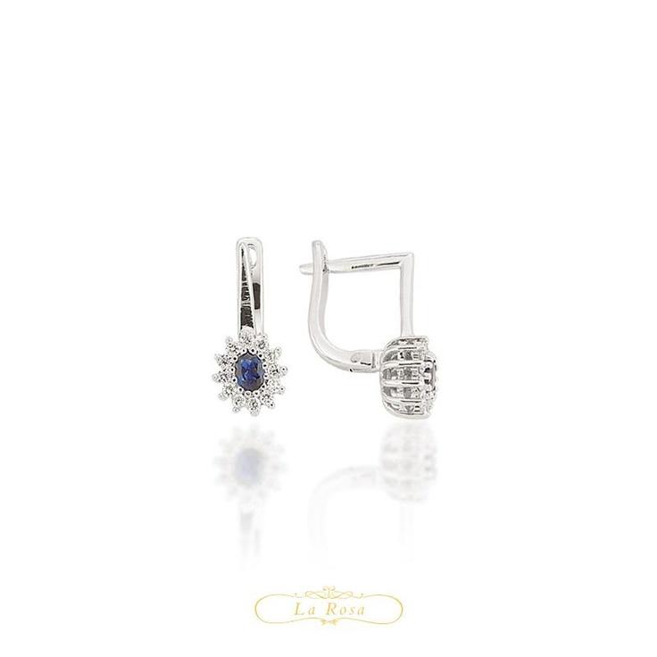 Cerceii LRY262 sunt eleganti si rafinati, imbinand intr-un model deosebit diamantele si safirele. Pretul unei perechi de cercei LRY262 este 3672 lei.   http://www.bijuteriilarosa.ro/bijuterii-cu-diamant/cercei/cercei-lry262