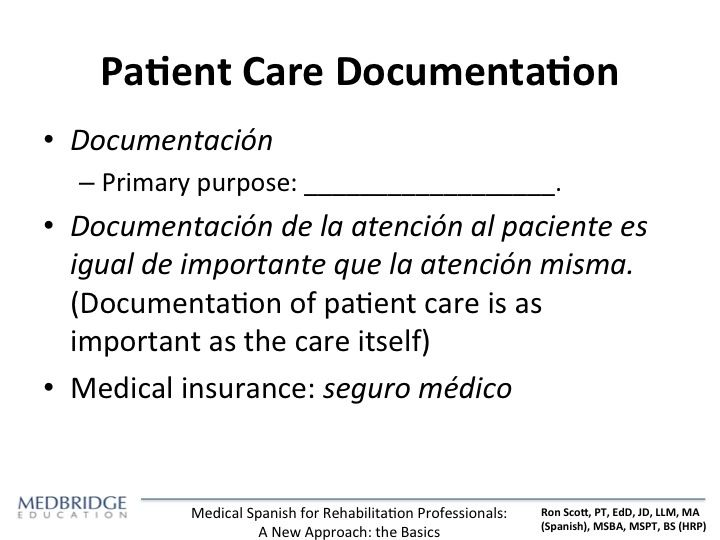 Medical Spanish For Rehabilitation Professionals A New Approach
