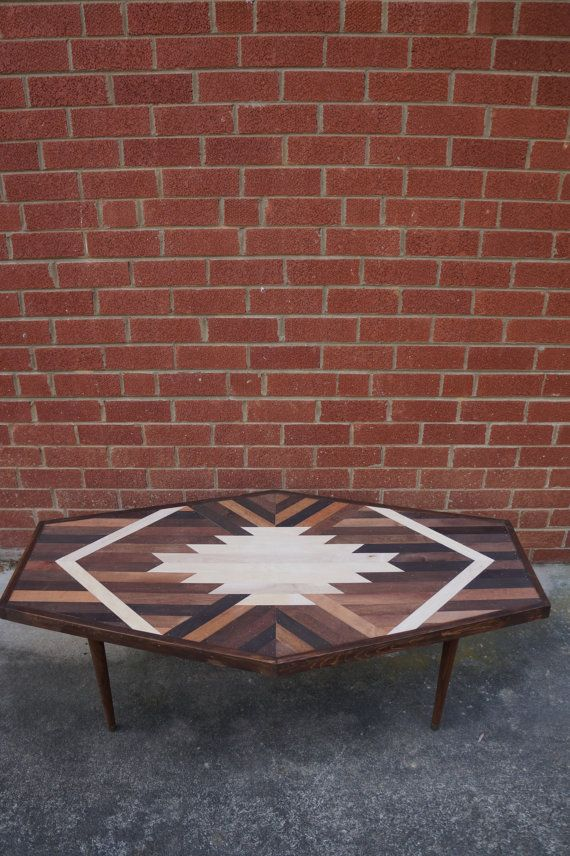 HEXAGON TABLE Navajo Aztec Native Boho by KnotAndSteelCo on Etsy Home & Living  Furniture  Living Room Furniture  Coffee & End Tables  Navajo  Pendleton  West Elm  Aztec Native American  Log Cabin  Coffee Table  Southwestern  BOHO  Mid-Century  Moroccan  Tribal  Geometric