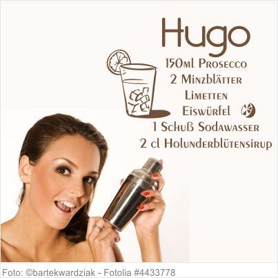 Wandtattoo Küche - Cocktail Rezept Hugo