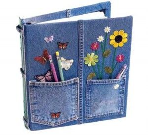 Decorate a Notebook With Recycled Jean Fabric