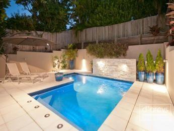 Swim spa pool design using tiles with pool fence & latticework fence - Pool…