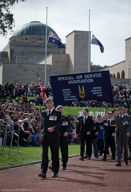 Anzac Day National Service at the Australian War Memorial - Canberra