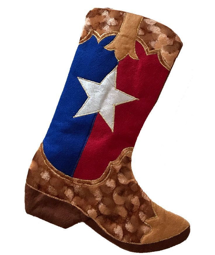 Cowboy Boot Stocking - Texas the Lone Star State