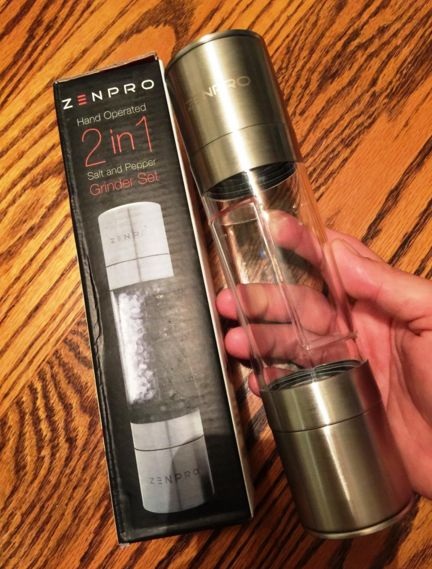 Christmas gift idea: ZENPRO Salt and Pepper Grinder. Use this code: ZENPRO15 to get a discount when purchasing it on Amazon: http://amzn.to/1Ht91EZ #zenpro #saltandpepper #saltandpeppergrinder