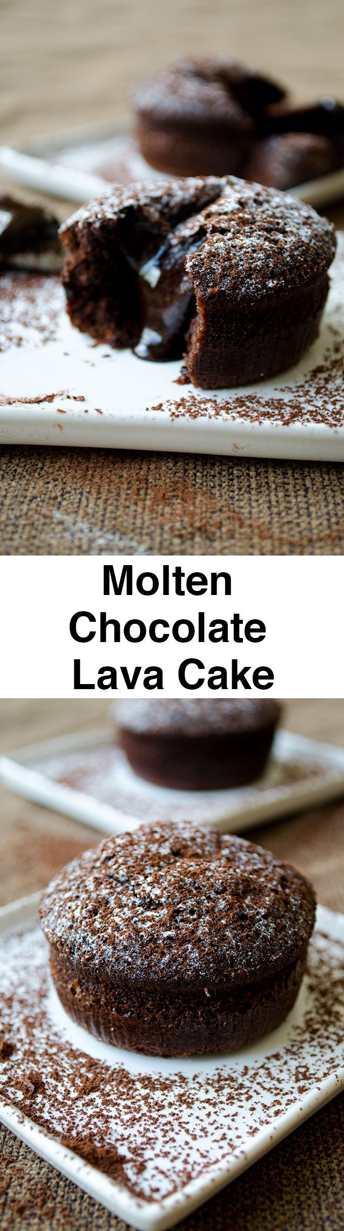 Molten Chocolate Lava Cake. Rich, chocolaty and ooey gooey. Ready within 30 minutes!