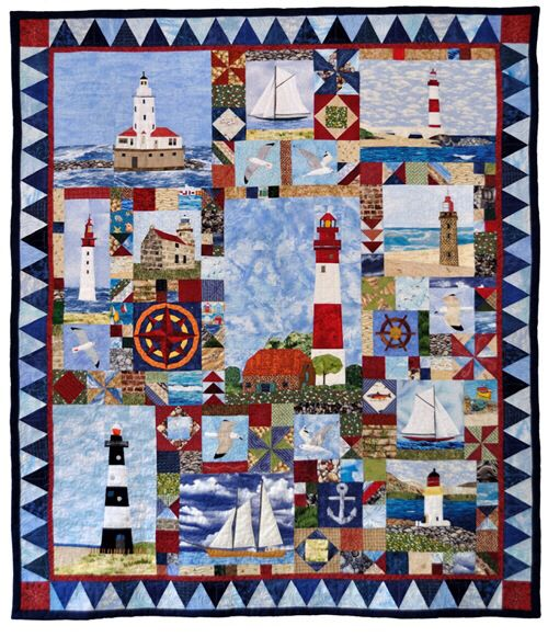 Quilting Lighthouse Patterns : 371 best images about Nautical-Cushions, Quilts, Stuffies, etc on Pinterest Starfish, Quilt ...