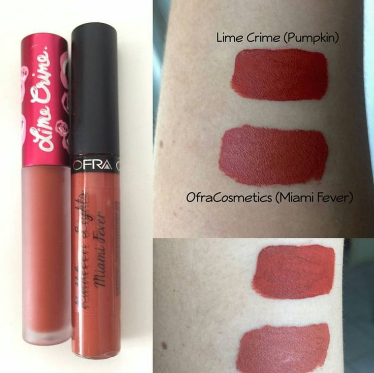 "Lime Crime ""Pumpkin"" ($20) Ofra ""Miami Fever"" ($20) get OFRA with coupon: PINNER for 30% off https://www.ofracosmetics.com/collections/lips/products/long-lasting-liquid-lipstick?variant=9396569155"