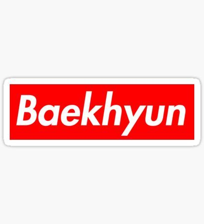supreme exo baekhyun Sticker