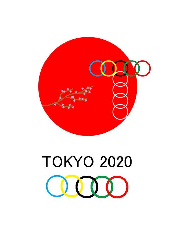 さらに日本の象徴の桜を足して、オリンピック自体のマークも5大陸が平等で平らで平和なイメージにしてみました。