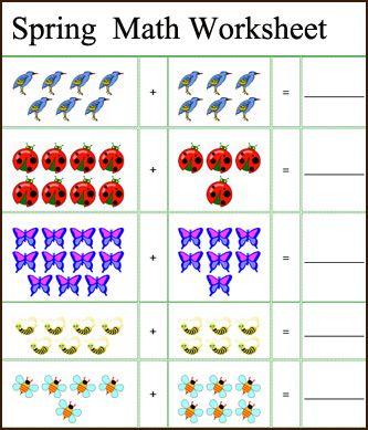 spring math worksheets - Free Printable Kids Worksheets