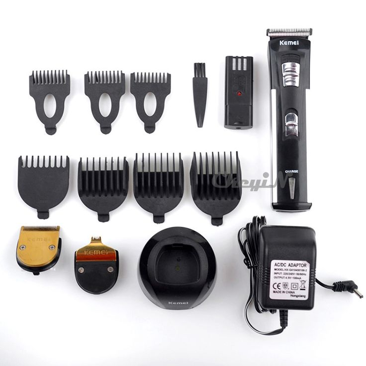 Extra Battery 3 Heads 7 Attachment Comb Kemei Professional Hair Clipper Electric Hair Cutter Beard Trimmer Haircut Machine S3434