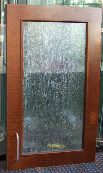pantry door rain glass and natural maple - Cabinet With Glass Doors