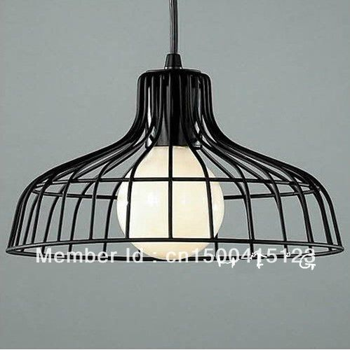com buy industrial black wire cage shade pendant light lamp