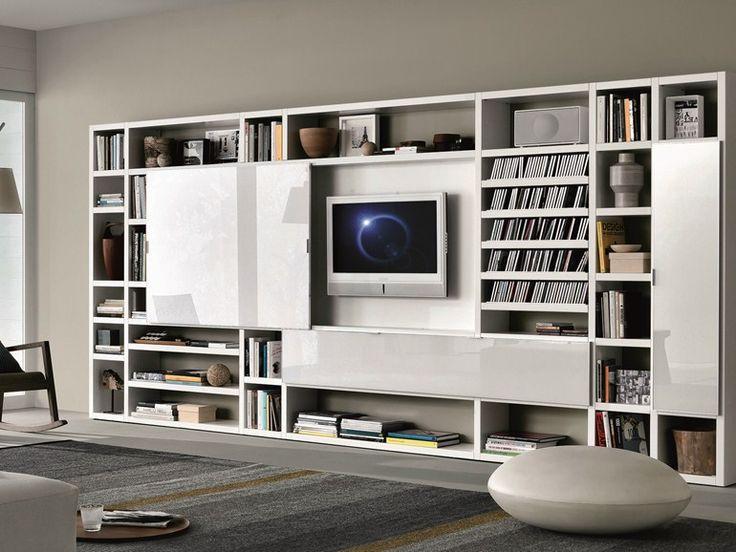 mueble modular de pared composable lacado crossing coleccin misuraemme by misuraemme diseo mauro lipparini