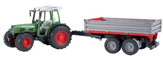 Amazon.com: Bruder Fendt 209 S. With Trailer: Toys & Games