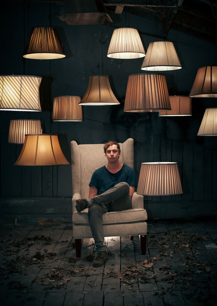"""I want to create the settings with furniture and had this idea about actors holding items like a lampshade and have a blub in their mouth to """"be"""" the lamp - this image struck me because it helped show the sleekness this could be"""