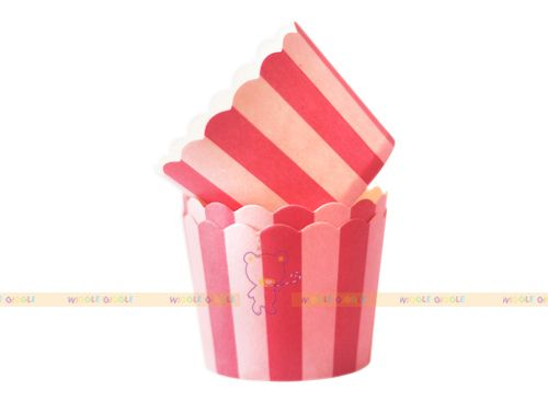 Double Pink Baking Cups. Visit us at www.wigglegiggle.com