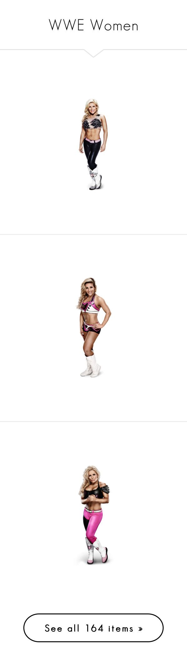 """""""WWE Women"""" by bazingax ❤ liked on Polyvore featuring wwe, divas, people, natalya, wwe figures, superstars, wwe diva, kelly kelly, aj lee and accessories"""