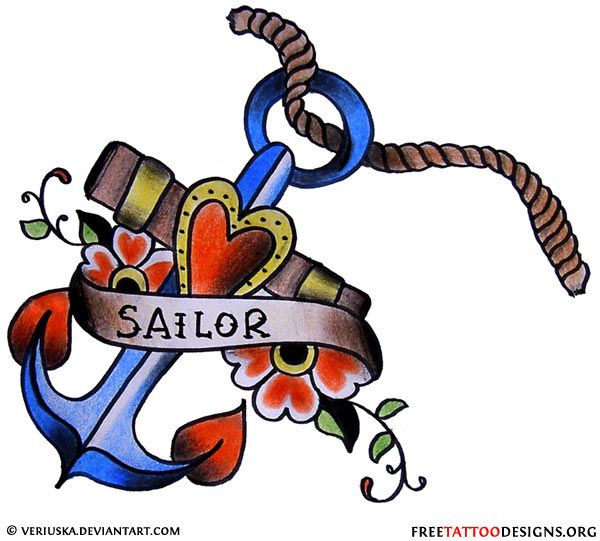 Vintage anchor tattoo design