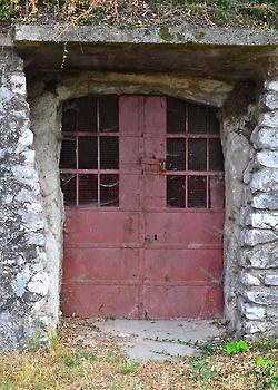 Red Door in Eger, Hungary