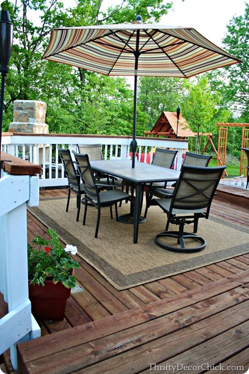 Our Favorite Place Deck With A New Outdoor Eating Area So