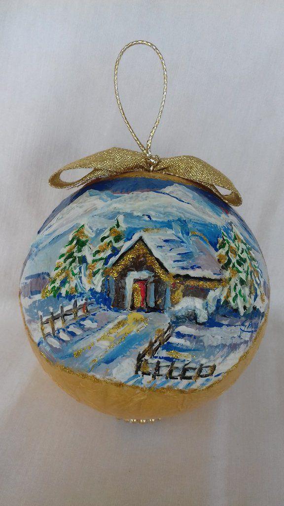 Palla natalizia per addobbo albero di Natale, by Il Meraviglioso Mondo di Artemisia, 35,00 € su misshobby.com
