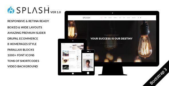 #Splash - Multi-Purpose Bootstrap Drupal 8.4 Theme - #Creative Drupal