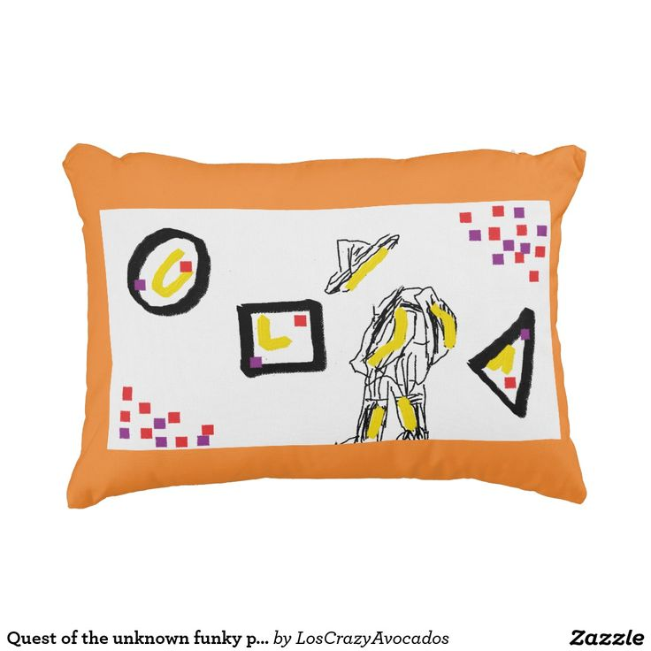 Quest of the unknown funky pillow