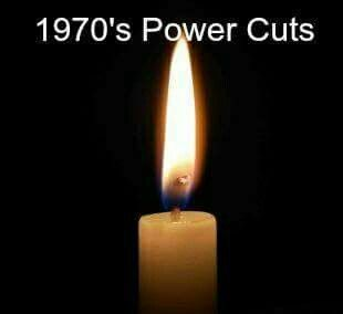 Used to happen regularly - the power would just go out.  We used to watch through the windows for the lights on the dual carriageway on the other side of the playing fields coming back on - they always came on a second or two before everything else
