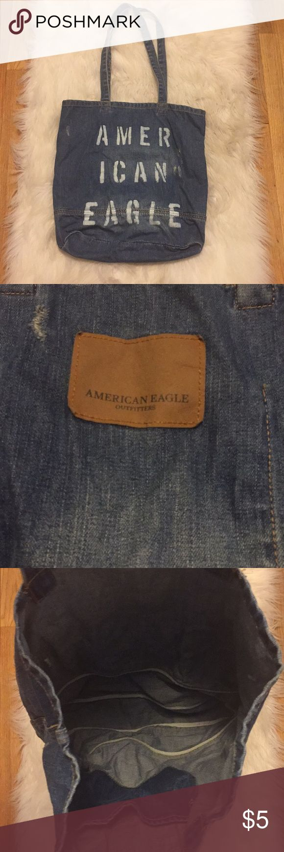 American Eagle denim tote bag American Eagle denim tote bag! Used once- brand new condition! American Eagle Outfitters Bags Totes
