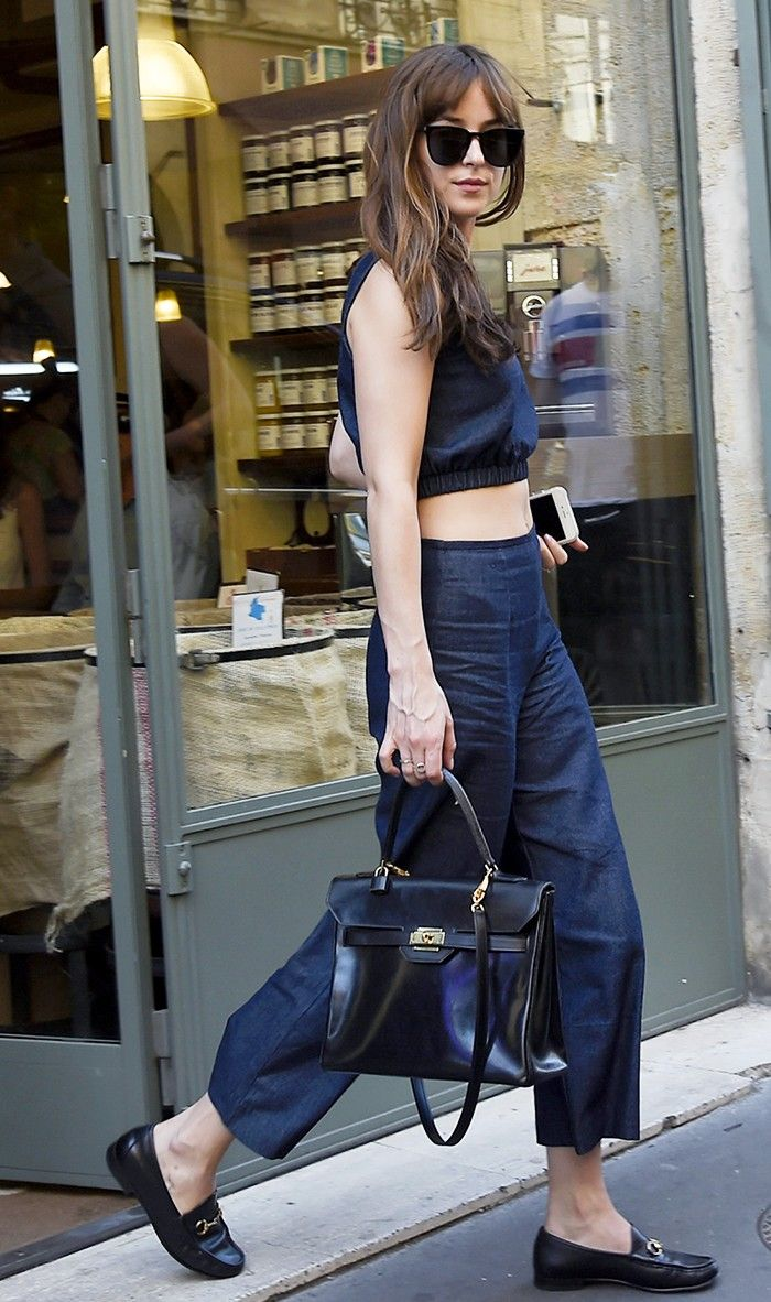 5 Dakota Johnson Outfits You Can Re-Create Without a Stylist via @WhoWhatWear