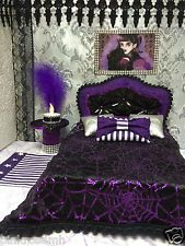 Monster High Elissabat Bett Couch Sofa Tisch Teppich Furniture Möbel pinkrosemh