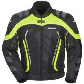 Cortech Mens GX Sports Air 3.0 Black Neon Mesh Summer Motorcycle Jacket