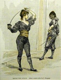 historical women's fencing