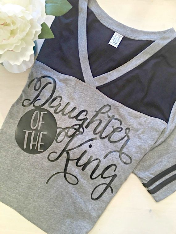 Christian Shirt, Christian Shirts, Christian T-Shirt, Christian T-Shirts, Daughter Of The King, Football Shirt, All Good Threads, Football