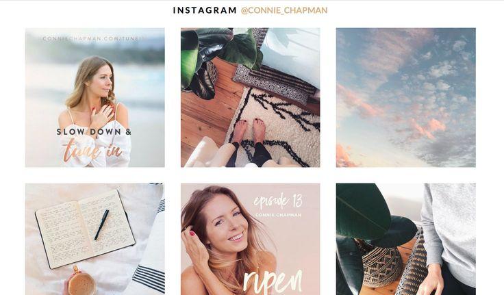 Connie Chapman | Website Instagram Feed Design