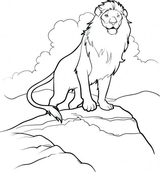 Aslan The Great Lion Narnia Coloring Page In 2020 Lion Coloring Pages Cute Coloring Pages Coloring Pages