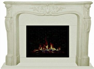 French Classic Cast Stone Fireplace Mantels - mediterranean - Fireplace Mantels - Los Angeles - Your Mantel Company Inc.