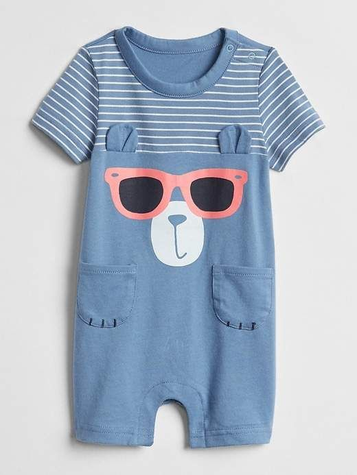 0a6be475745 GAP Critter Shorty One-Piece  babyboy