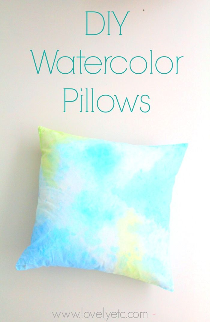 Paint your own DIY abstract watercolor pillow covers - such a fun, chic way to add some color to any room.