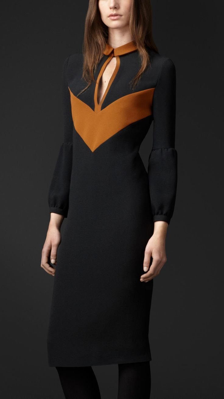 Slash Front Chevron Dress | Burberry