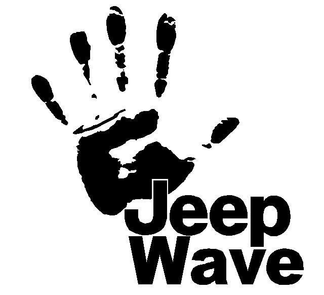 JEEP WAVE Hand Wrangler Rubicon 4x4 Off Road Decal Vinyl