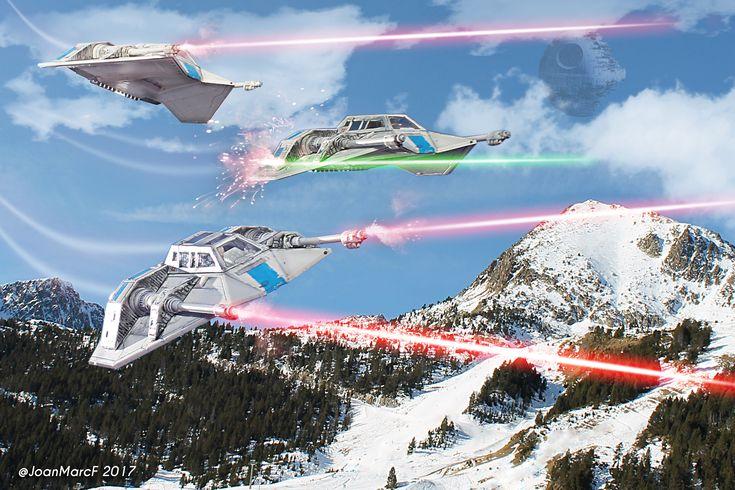 snowspeeder squad / composición digital PS