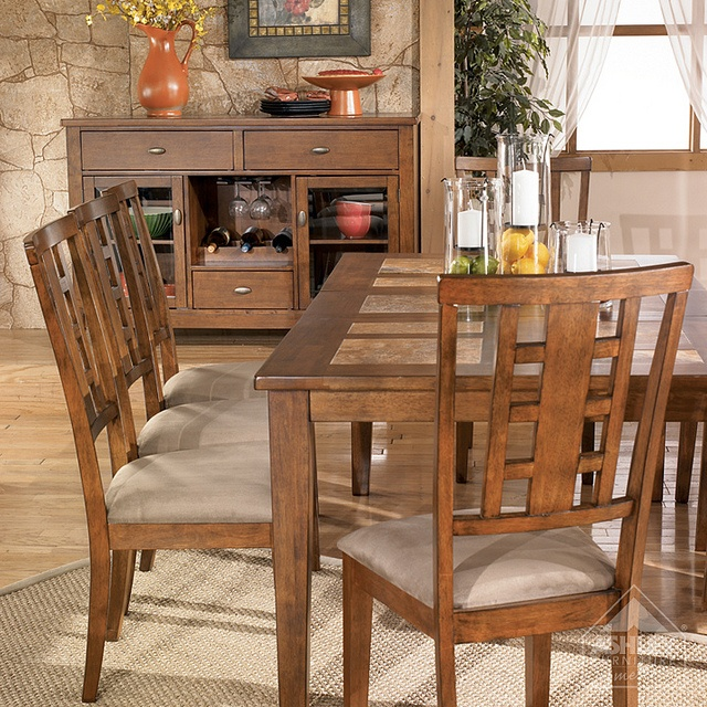 Exceptional Ashley Furniture HomeStore   Tucker Tile Top Dining Table | Brown Finish,  Furniture Collection And Room Decor Nice Ideas