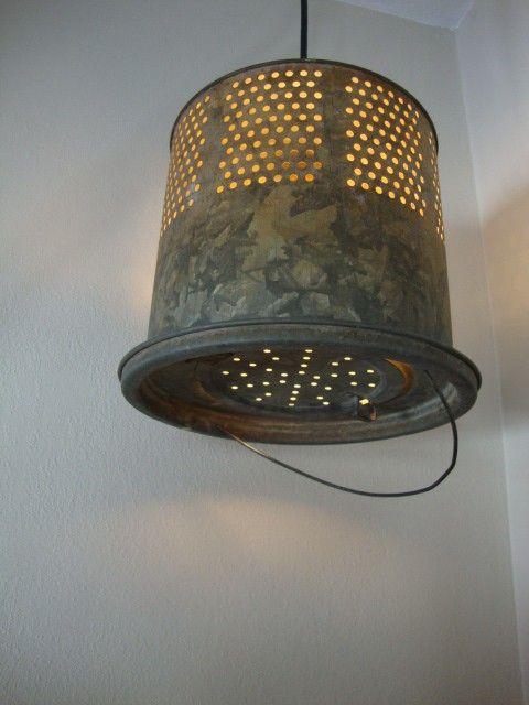 upcycled bucket light