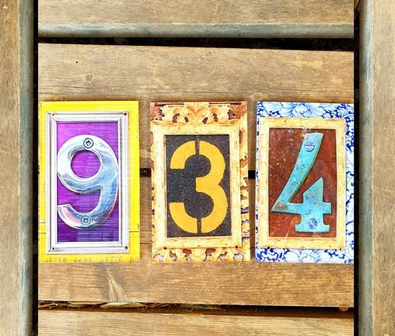 Decorative House Numbers Mailbox Numbers House Number Plaque